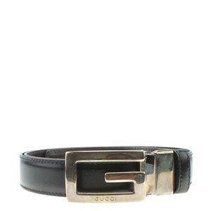 Gucci Vintage 'G' Black Beltx Size 85/34 180096